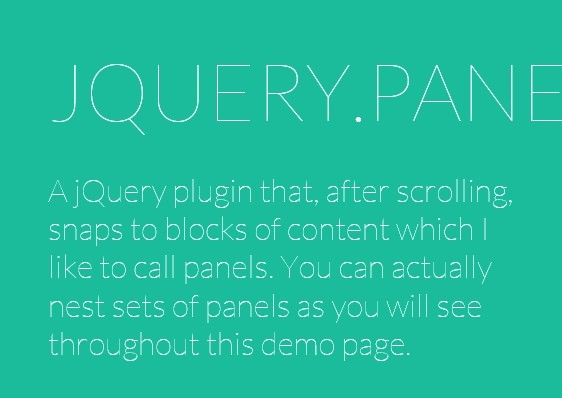 jQuery Plugin For Smooth Scroll Snapping - panelSnap
