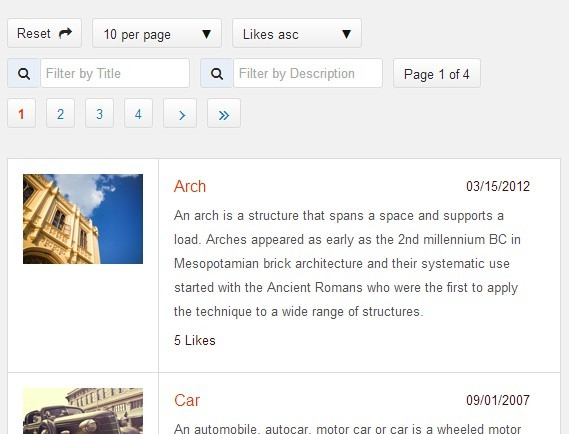 jQuery Plugin For Sorting, Paginating, Filtering Any Content - jplist