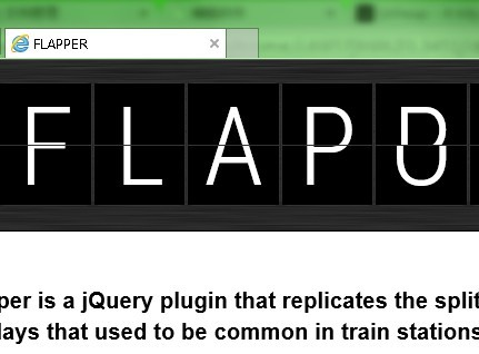jQuery Plugin For Split Flap Text Animation - Flapper | Free jQuery
