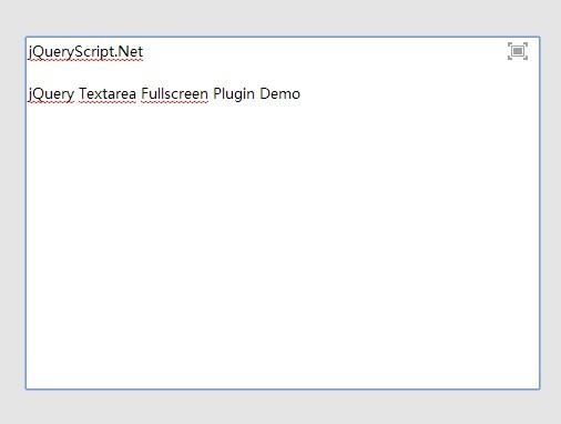 jQuery Plugin For Textarea Fullscreen Mode