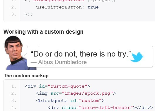 jQuery Plugin For Turning Html Content Into Tweetable Quotes - ProQuo