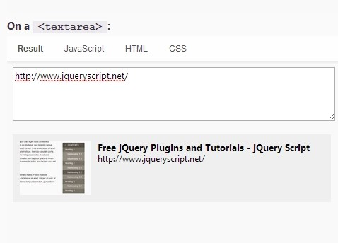 jQuery Plugin For URL Live Preview - urlive | Free jQuery