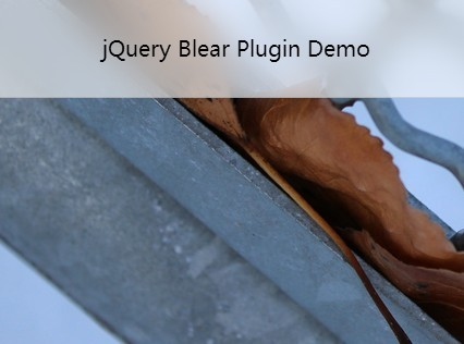 jQuery Plugin For iOS 7 Like Semitransparent <font color='red'>blur</font> View - Blear