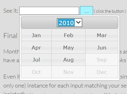 jQuery Plugin For jQuery UI Month/Year Picker - mtz.monthpicker