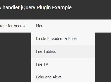 jQuery Plugin To Handle Overflowing Menus On Small Screens