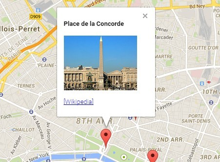 JQuery Plugin To Add Markers Info Windows On Google Maps AxGmap - Google maps custom marker