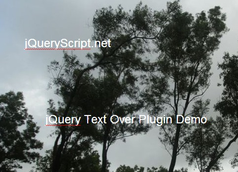 jQuery Plugin To Add Text Notes Over The Images - Text Over