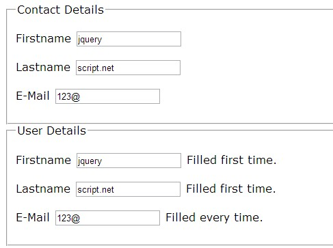 jQuery Plugin To Auto Copy Text From One Field To Another - autofill