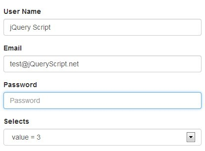 jQuery Plugin To Auto Fill Form Elements From Preset Data - Form Autofill