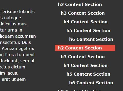 jQuery Plugin To Auto Generate Navigation For Long Content - heading-list