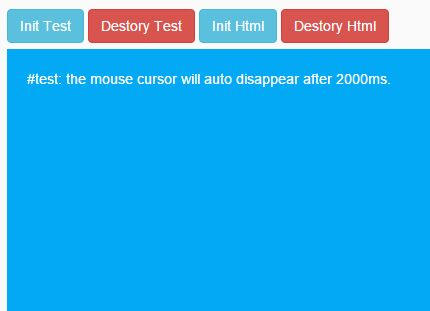 jQuery Plugin To Auto Hide Mouse Cursor On Webpage