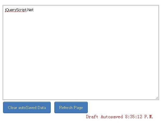 jQuery Plugin To Autosave Form Content - autoSave