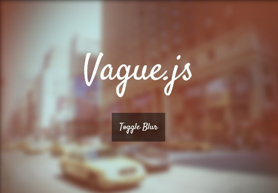 jQuery Plugin To Blur Any Html Elements - vague.js