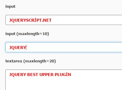 jQuery Plugin To Capitalize Characters In Text Boxes - Bestupper