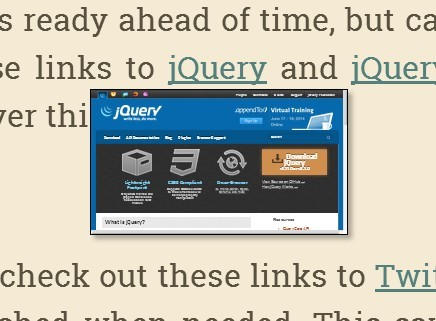 jQuery Plugin To Create A Live Preview Of A URL - Mini Preview