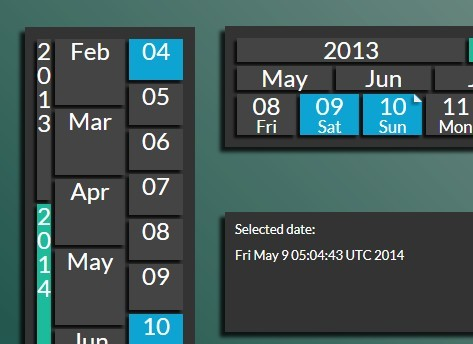 jQuery Plugin To Create A Modern Calendar - Sharp Calendar