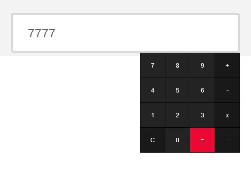 jQuery Plugin To Create A Simple Calculator For Text Field - jCalculator