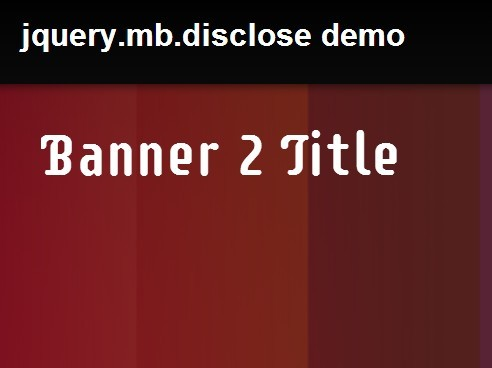 jQuery Plugin To Create Amazing Presentations - mb.disclose