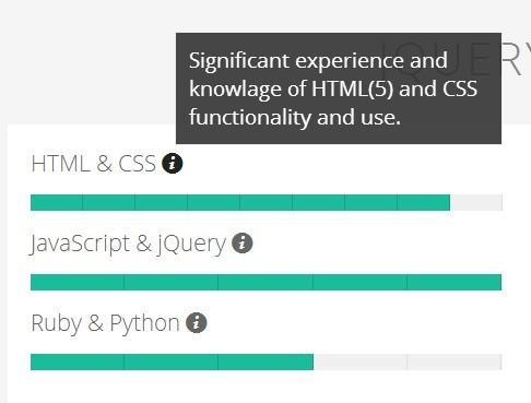 jQuery Plugin To Create Animated Skill & Experience Bars - Skillset.js
