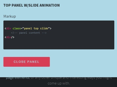 jQuery Plugin To Create App Style Off-canvas Panels  - panels.js