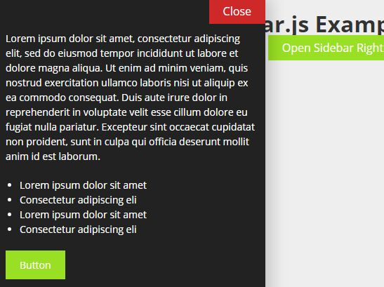 jQuery Plugin To Create App-style Revealing Sidebars - Sidebar.js