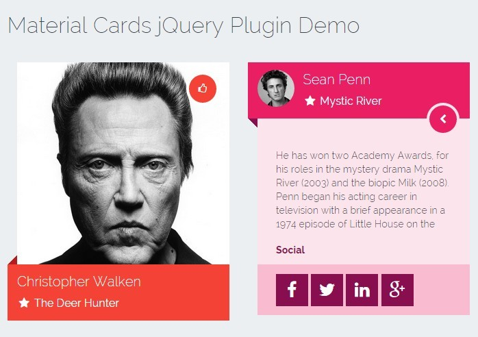 jQuery Plugin To Create Awesome Material Design Cards