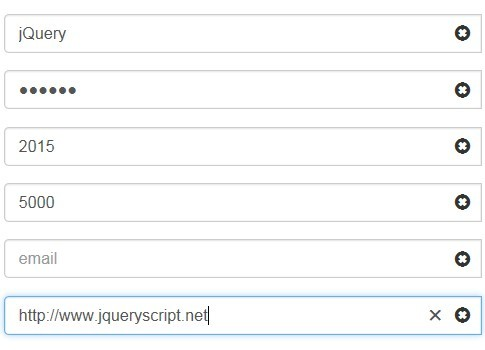 jQuery Plugin To Create Clear Buttons For Bootstrap Inputs