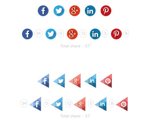jQuery Plugin To Create Custom Share Buttons With Counts - csbuttons