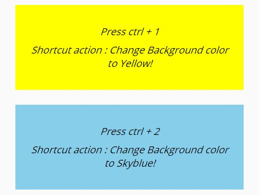 jQuery Plugin To Create Custom Shortcuts For Any Actions - quick-shortcuts