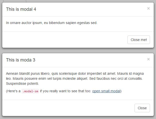 jQuery Plugin To Create Multiple Bootstrap Modals