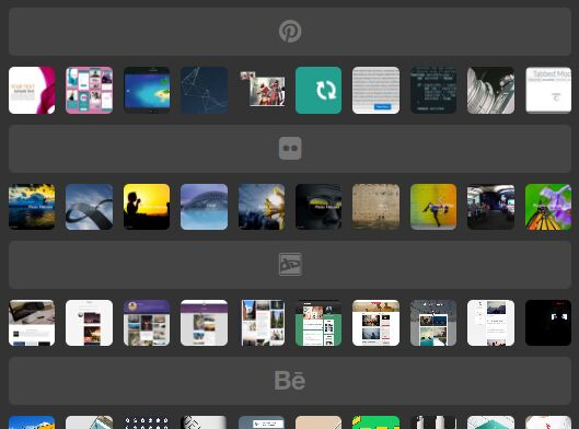 jQuery Plugin To Create Photo Stream Feeds From Various Networks - Social Image Feed