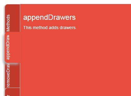 jQuery Plugin To Create Sliding Drawer Panels - cabinet