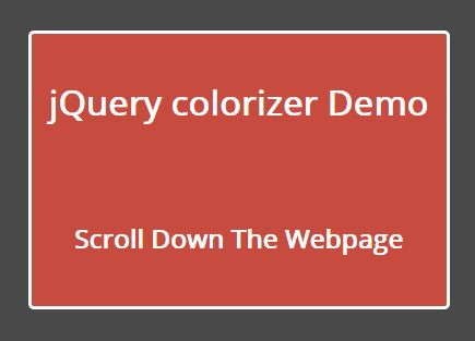 jquery plugin to create smooth color transitions on scroll colorizer