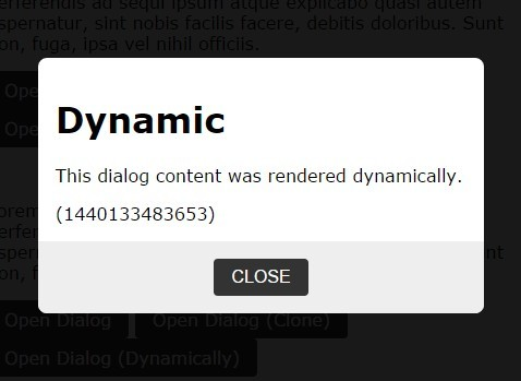 jQuery Plugin To Create Static or Dynamic Modal Windows - dialog.js