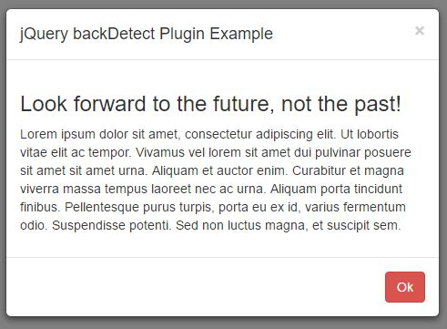 jQuery Plugin To Detect Back Button Click In Browser - backDetect