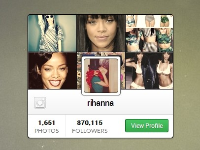 jQuery Plugin To Display An Instagram Profile Widget On The Webpage