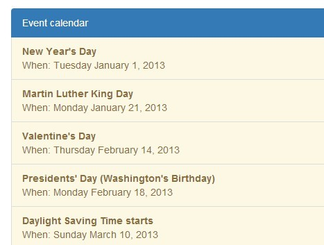 jQuery Plugin To Display Google Calendar Feeds On Your Website