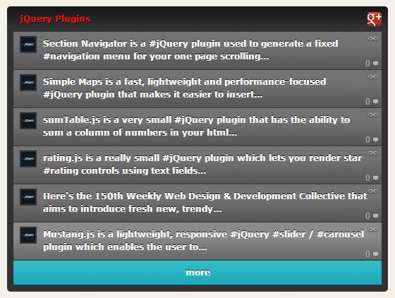 jQuery Plugin To Display Latest Posts From Google Plus