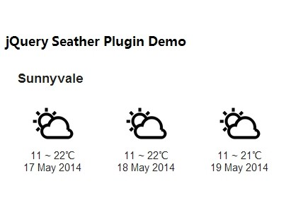 jQuery weather Plugins | jQuery Script