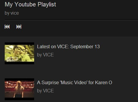jQuery Plugin To Display An Youtube Channel Playlist