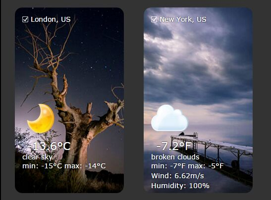 jQuery Plugin To Embed A Nice Weather Widget In Webpage - Weather Widget
