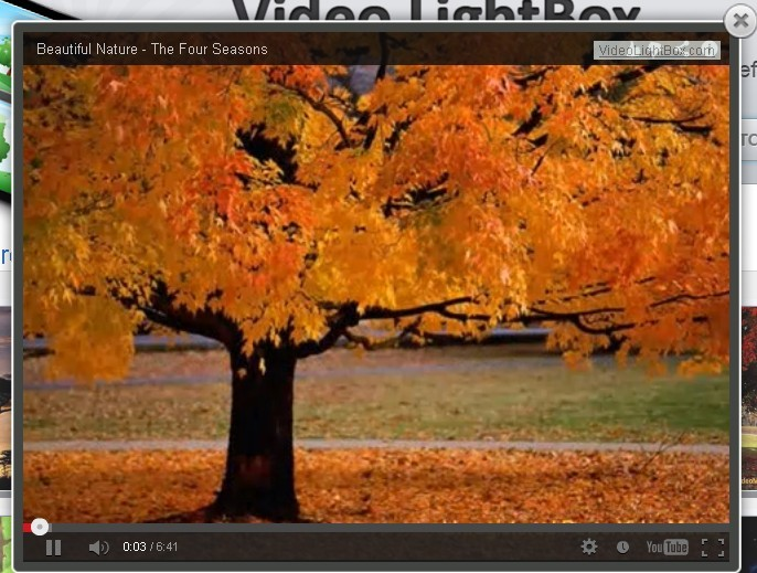 jQuery Plugin To Embed Videos with Lightbox Effects - Video Lightbox