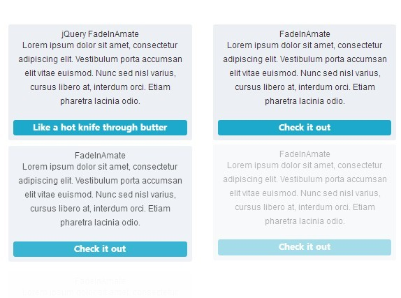 jQuery Plugin To Fade In Elements On Page Load - FadeInAmate