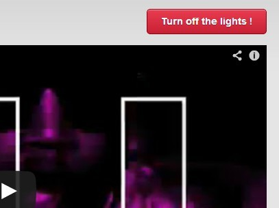 jQuery Plugin To Fade The Background To Dark When Playing A Video - Allofthelights.js