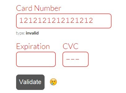 Jquery Plugin To Format  Validate Credit Card Forms  Payform