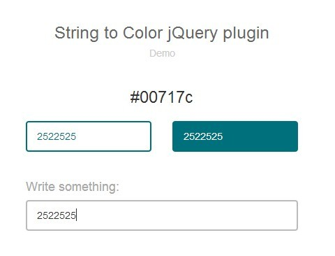 jQuery Plugin To Generate Color Code From A String - String to Color