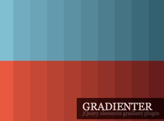 jQuery Plugin To Generate Gradient Elements - Gradienter