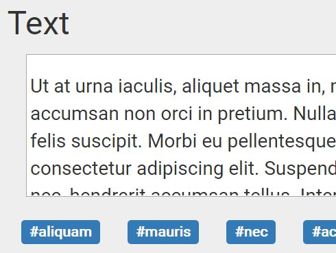 jQuery Plugin To Generate Tags From A Given Text - tag-extract