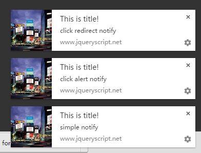 jQuery Plugin To Handle & Manage HTML5 Desktop Notifications - Push Notification