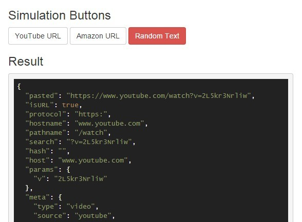 jQuery Plugin To Handle Pasting & Parsing of URLs and Text - Paste